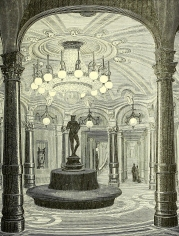 Werdermann chandeliers were used at the theatre de l'Opera to illuminate the foyer reserved for season ticket holders.