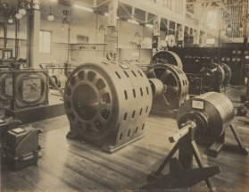 Electrical machinery such as dynamos, a popular attraction amongst visitors, was seen as a symbol of scientific progress and civilization.