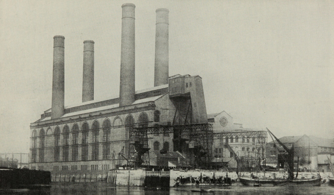 The architecture of electricity had as awe-inspiring an appearance as the machinery it housed. It was often described in quasi-religious language such as 'temples' or 'cathedrals'.