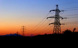 Pylons at sunset. Credit: Sarah James.