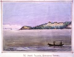 The quarantine station on St John's Island, Malaysia, John Edmund Taylor, 1879.