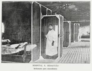 A yellow fever isolation ward in Rio de Janeiro, Brazil, Oswaldo Cruz, 1909.