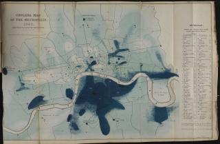 Cholera map of London in 1849.