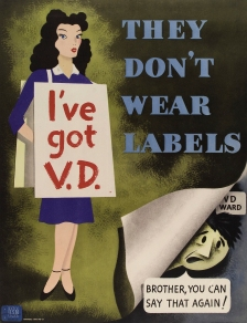 US Navy poster warning of the dangers of venereal diseases, 1948.